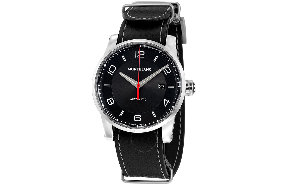 montblanc timewalker black dial mens replica watches